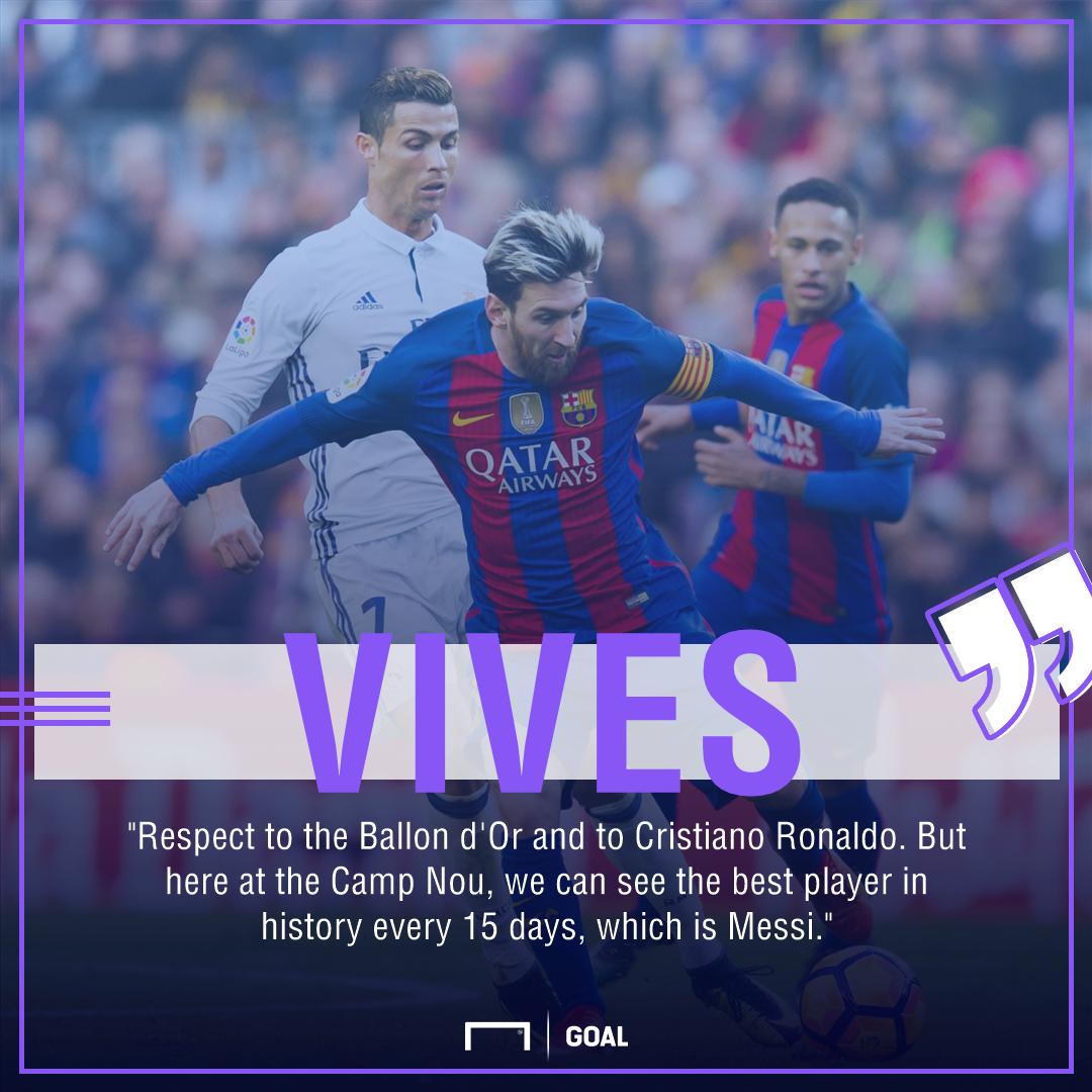 Josep Vives Lionel Messi best Cristiano Ronaldo