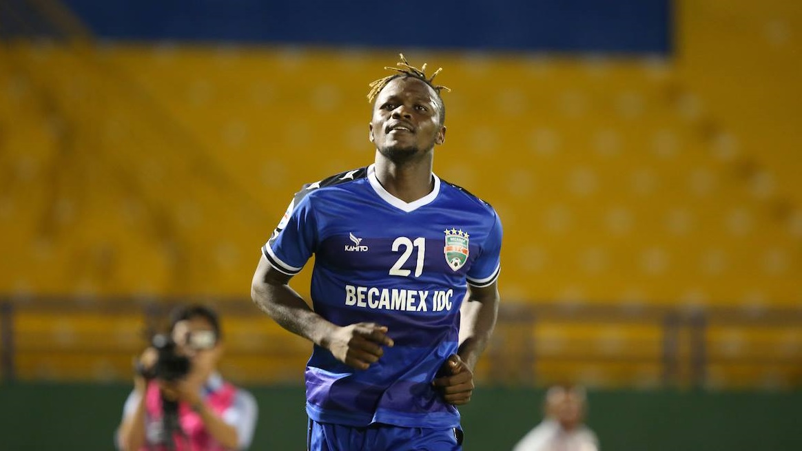 Victor Mansaray Becamex Binh Duong Shan United AFC Cup 2019