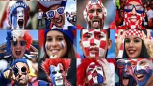 France Croatia polaroid in Russia 2018 World Cup final