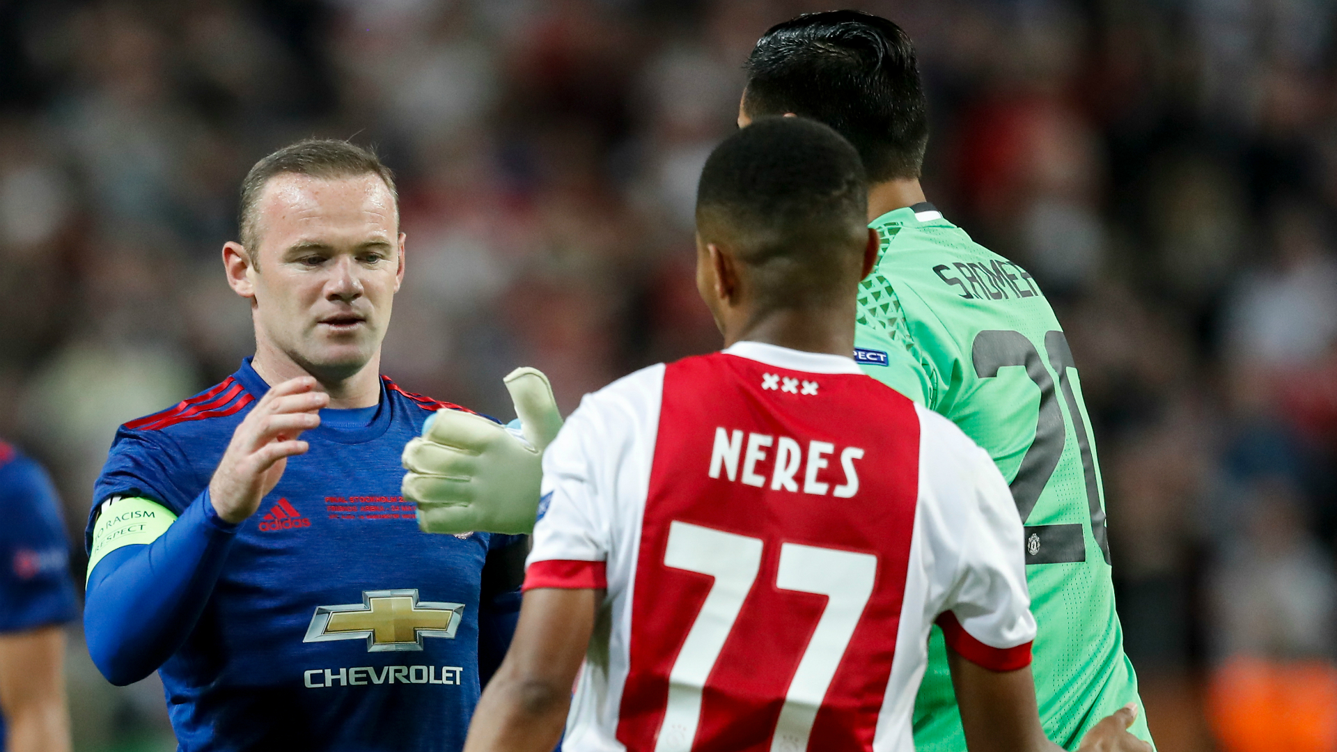 Wayne Rooney, David Neres, Ajax - Manchester United, Europa League, 05242017