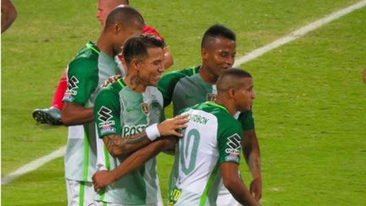 Celebración gol Atlético Nacional vs Cortuluá