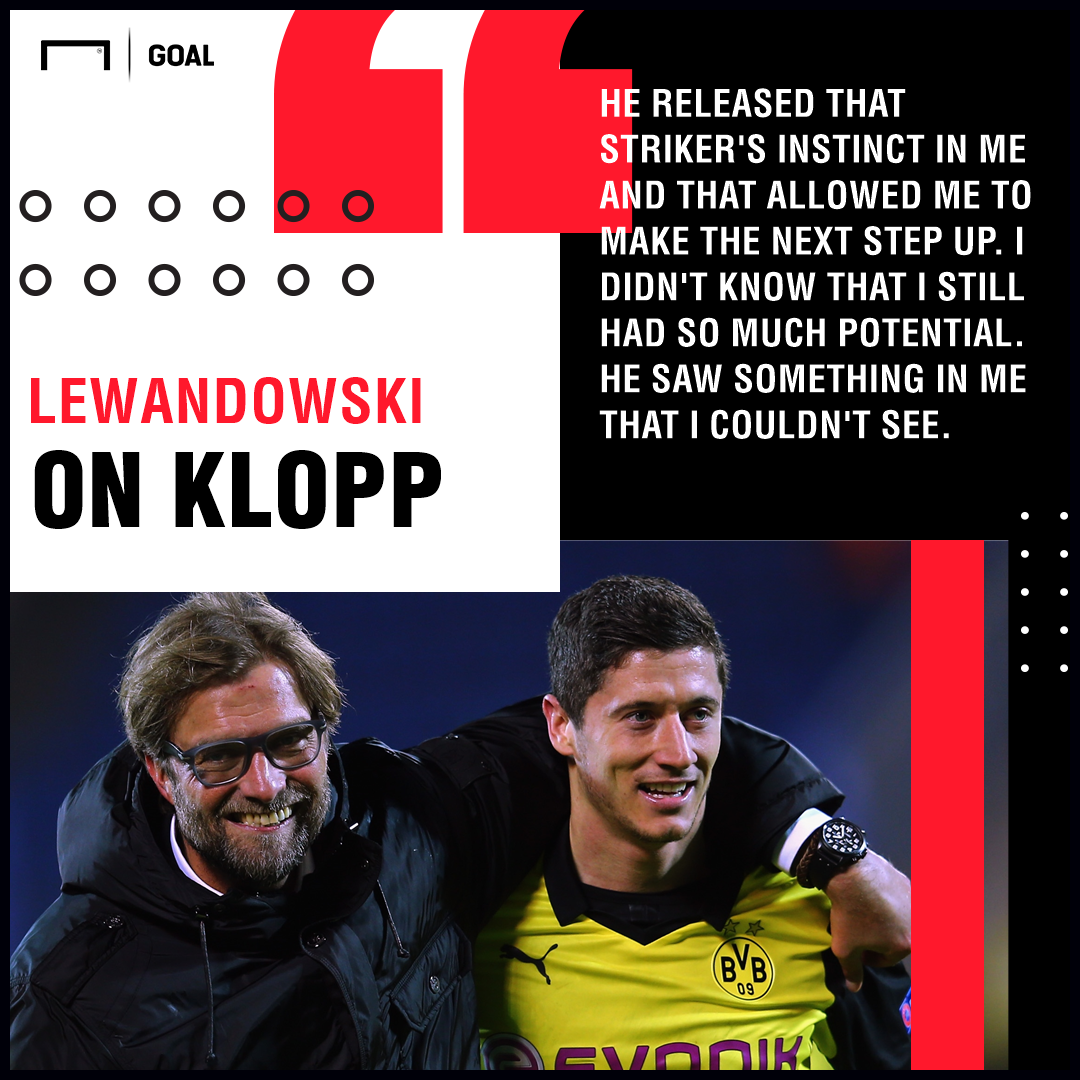 GFX Lewandowski on Klopp