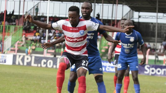 Aziz Okaka of AFC Leopards v Bandari.