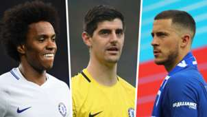 Willian Thibaut Courtois Eden Hazard Chelsea