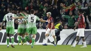 Betis celebrating Betis Sevilla Milan Europa League