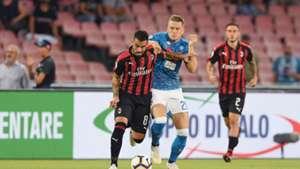 Suso Piotr Zielinski Napoli Milan Serie A