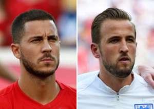 Harry Kane England Eden Hazard Belgium