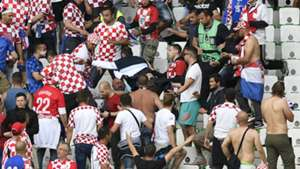 Croatia Crowd Trouble Group D Czech Republic Euro 2016