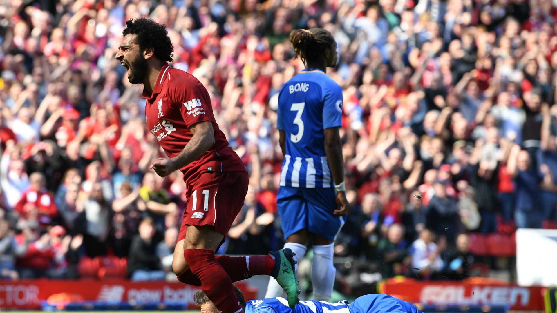Mo Salah helped Liverpool see off Brighton