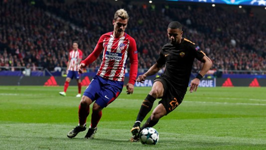 Antoine Griezmann Bruno Peres Atlético de Madrid Roma UCL 22112017