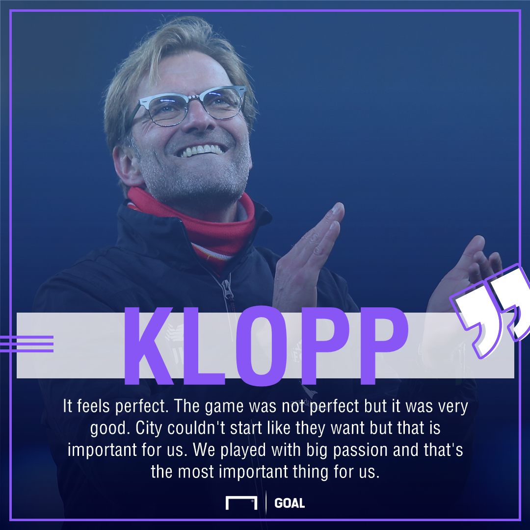 Jurgen Klopp Liverpool Manchester City perfect