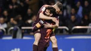Lionel Messi, Jordi Alba, Deportivo La Coruna vs Barcelona, 17/18