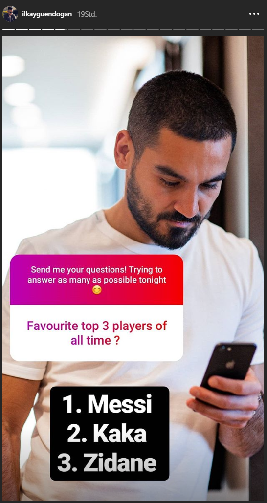 Ilkay Gündogan favorite players