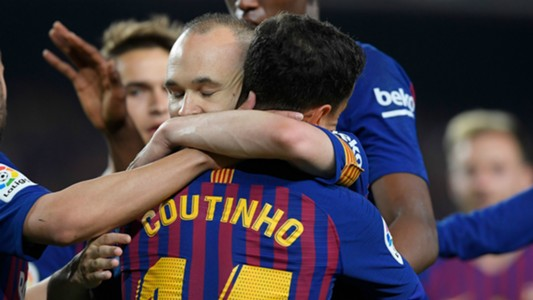 Philippe Coutinho Andres Iniesta Barcelona 2017-18