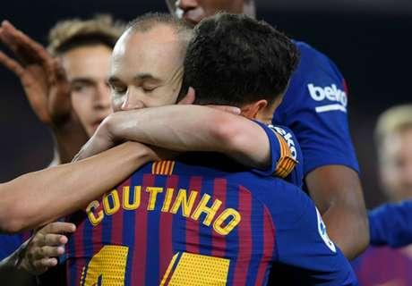 Kemenangan Warnai Perpisahan Iniesta Dengan Barca