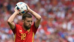 Jordi Alba Spain Czech Republic Euro 2016