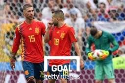 스페인 축구 국가대표팀 동료 세르히오 라모스(좌)와 조르디 알바(우). 사진=게티이미지