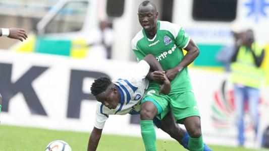 Goddfrey Walusimbi of Gor Mahia v AFC Leopards.