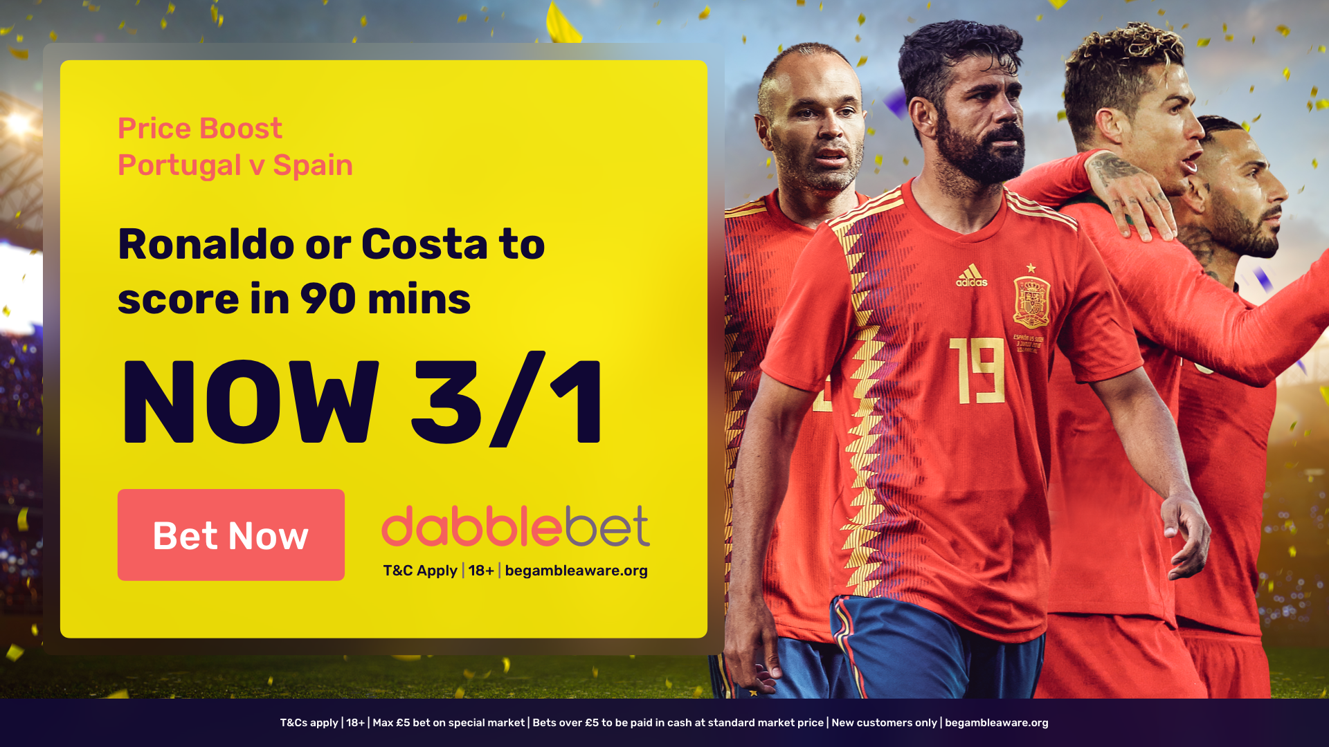 dabblebet Ronaldo Costa offer in article