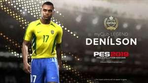 PES 2019 Konami Denilson legends Brasil