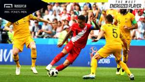 The Most Energized Player Australia - Peru Paolo Guerrero