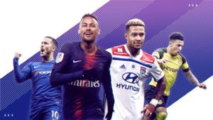 Hazard, Neymar, Depay, Sancho
