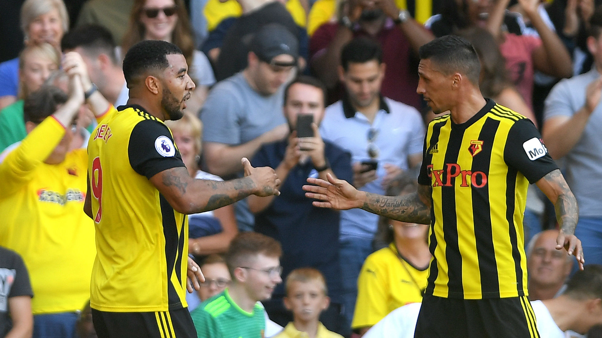Troy Deeney Jose Holebas Watford