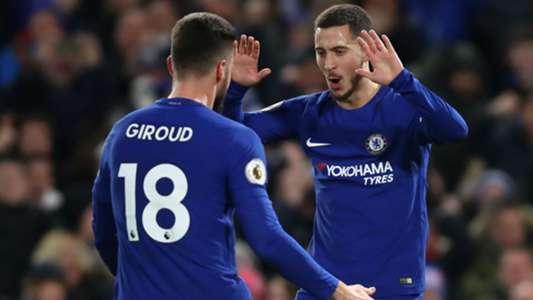 Eden Hazard, Olivier Giroud, Chelsea