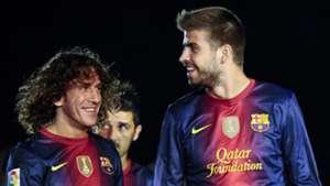 Gerard Pique Carles Puyol Barcelona