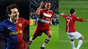 GFX Lionel Messi Franck Ribery Cristiano Ronaldo