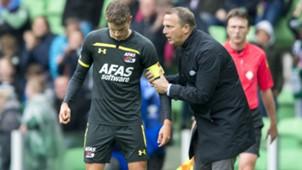 Guus Til John van den Brom AZ Eredivisie 09232018