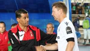 Dylan Kerr Gor Mahia coach with USM Alger coach.j