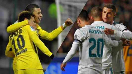 Real Madrid PSG Paris Champions League Montage
