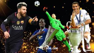 Cristiano Ronalo Lionel Messi Paul Pogba Manuel Neuer GFX