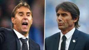 Julen Lopetegui Antonio Conte Real Madrid Chelsea 2018