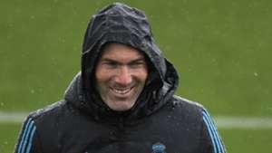 Zinedine Zidane Real Madrid Champions League training session