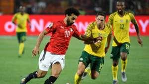 Egypt v South Africa Mohamed Salah, Dean Furman and Kamohelo Mokotjo - July 2019