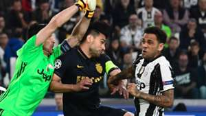 Buffon Falcao Juventus Monaco Champions League
