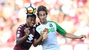 Joel Obi, Simone Missiroli, Torino, Sassuolo, Serie A, 27082017
