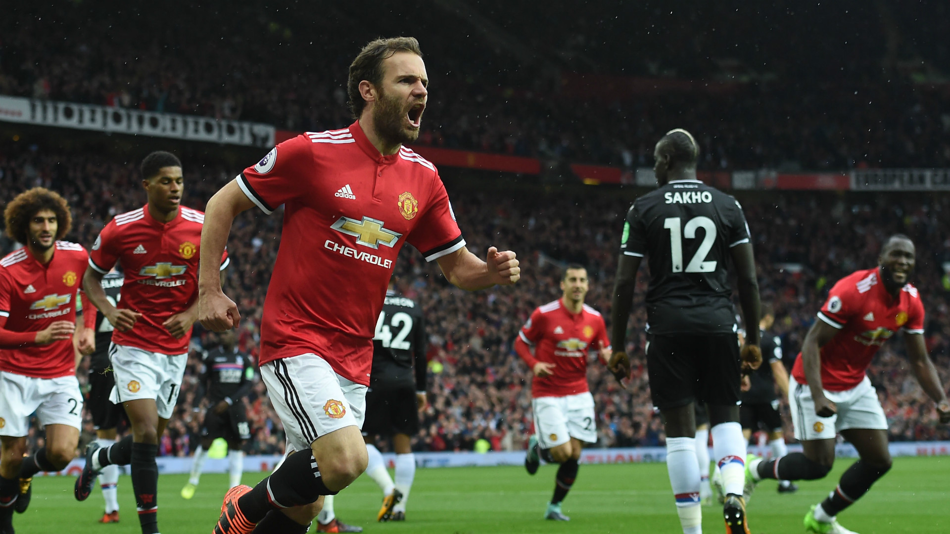 Juan Mata Manchester United Crystal Palace Premier League