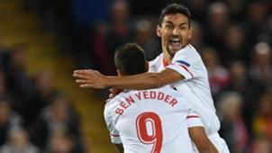 Jesus Navas Wissam Ben Yedder Liverpool Sevilla Champions League 13092017