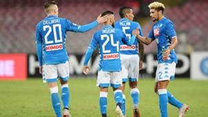 Napoli celebrating Napoli Sassuolo Serie A