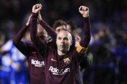 Andres Iniesta Deportivo Barcelona LaLiga