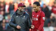 Klopp Van Dijk Liverpool 2018-19