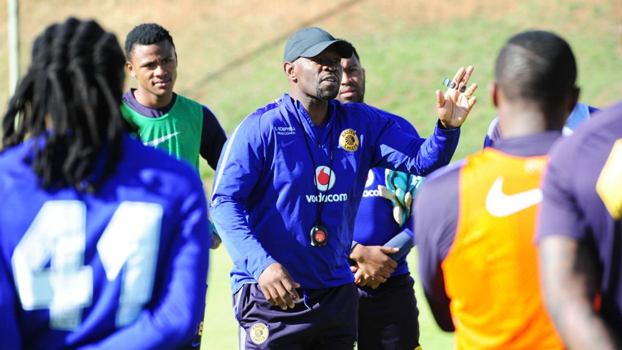 Steve Komphela at Kaizer Chiefs training