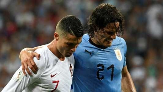 Cristiano Ronaldo Edinson Cavani Portugal Uruguay 2018
