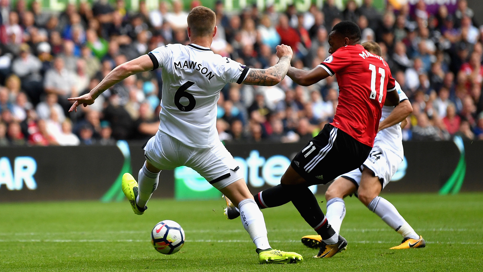Swansea City Manchester United Mawson Martial 23102017