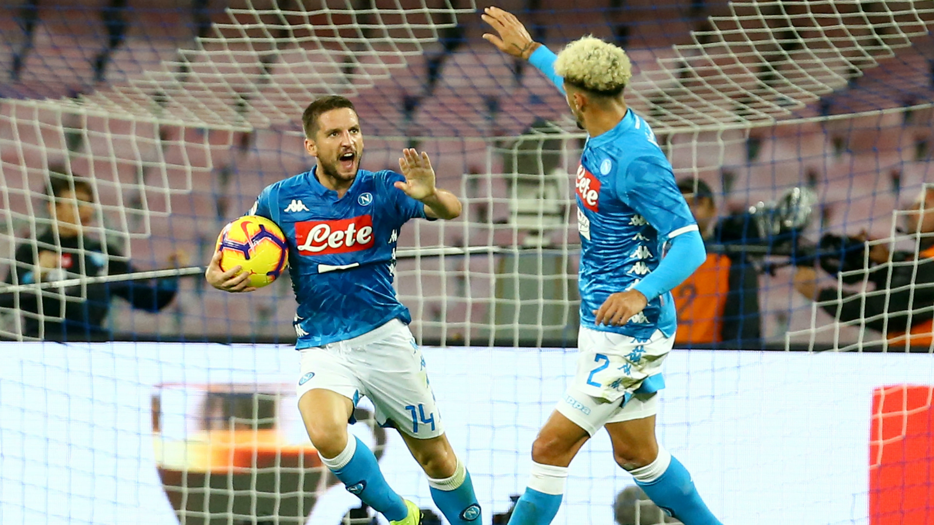 Dries Mertens SSC Napoli AS Roma 28102018