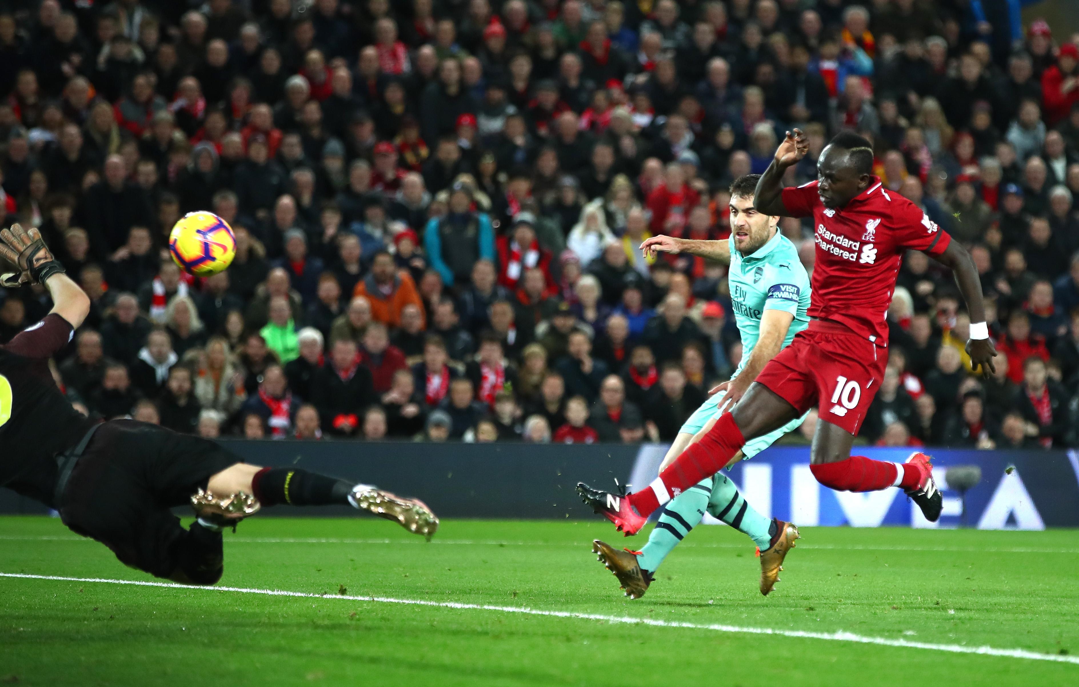 Sadio Mane Liverpool vs Arsenal Premier League 291218