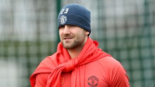 Luke Shaw Manchester United training
